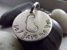 God gave me you Mom to be copper keychain by patsdesign on Etsy, $15.00