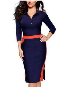 Vestido bicolor slim Image