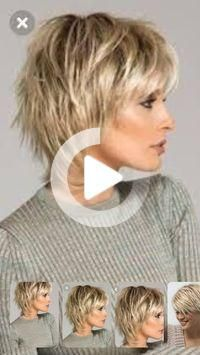 Short Shag Hairstyles for Women Over 50 Back VeiwsShag Haircuts Side and Back ViewI don't like how this curves around the face and goes longer in the back Shaggy Short Hair, Short Shag Hairstyles, Short Layered Haircuts, Easy Hairstyles For Medium Hair, Haircuts For Fine Hair, Short Hairstyles For Women, Medium Hair Styles, Short Hair Styles, Shaggy Haircuts