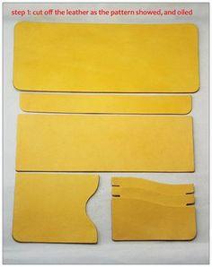 Сумка швейные образцы короткий кошелек, шаблоны pdf CDD-08 Кожевенное Ремесло узоры инструменты