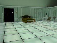 Habitación de Odisea en el espacio. ¡¡No es la real!! Tuve la suerte de reproducirla para la expo inaugural del TEA, Cosmos.
