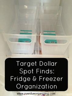 The Target Dollar Spot can help you organize on the cheap. {OverdueOrganizing.com}