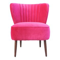Featuring pink upholstery and a wood frame, this midcentury-inspired accent chair adds a pop of color to your living room or master suite.      ...
