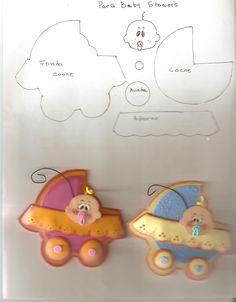 Coche bb con molde | Felt Baby Pushchair + patterns