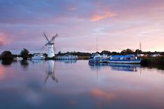 Thurne Mill at fist light on the Norfolk Broads Commercial Landscaping, Norfolk Broads, Norwich Norfolk, Photography Workshops, Windmills, Commercial Photography, British Isles, Travel Posters, Marina Bay Sands