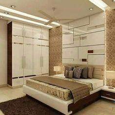 interior design package Mumbai interior design for flat in Thane - Ceiling design Bedroom Cupboard Designs, Wardrobe Design Bedroom, Master Bedroom Interior, Luxury Bedroom Design, Bedroom Bed Design, Bedroom Furniture Design, Home Room Design, Interior Design, Flat Interior