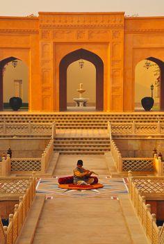 Flute-Player at Sunrise, Agra, Uttar Pradesh, India Om Namah Shivaya, Agra, Global Desi, Air India, India People, North India, Famous Places, India Travel, Pilgrimage