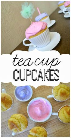 How cute are these teacup cupcakes?!?!  They are perfect for a tea party or princess fairy party and SO easy to make!