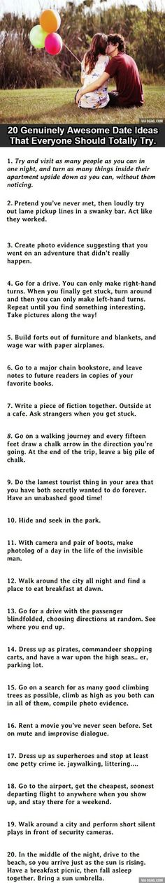 Ridiculous but fun date ideas