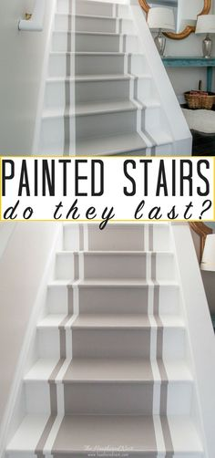 Pros and Cons of Painted Stairs: How do they hold up over the years? Pros and Cons of Painted StairYou can find Painted stairs and more on our website.Pros and Cons of Painted Stairs: How do they hold up over the years? Pros and Cons of Painte. Painted Wood Stairs, Painted Floors, Laminate Stairs, Flooring For Stairs, Plywood Floors, Basement Stairs, Laminate Flooring, Basement Ideas, Houses