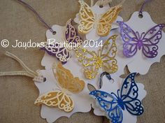 Jaydons Boutique . Butterfly Gift/Favour Tags - Pack of 10