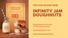 Feige's Pizza www.feigespizza.com #Branding #Infinity #Jam #Doughnuts #Advert #Marketing #Design #Photo #Promotion