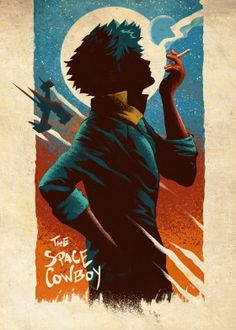 A gorgeous and relaxing artwork featuring Spike Spiegel from Cowboy Bebop from the artist Retina Creative Tv Anime, Anime Plus, Manga Anime, Anime Art, Cowboy Bepop, Cowboy Bebop Anime, Blue Exorcist, Akira, Cowboy Bebop Wallpapers
