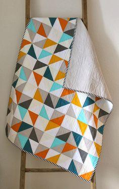 Color Palettes We Love: Aqua and Orange - Quilt