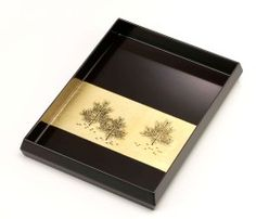 Personal Tray with Gold Young Pines