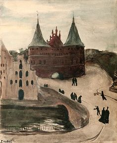 Magnus Knut Enckell, Finnish, 1870 - Symbolism, The Castle Helene Schjerfbeck, Modernism, Art Market, Cool Art, Awesome Art, Landscape Paintings, Castle, Auction, Watercolor
