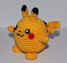 Pokemon Crochet Pattern, Crochet Patterns Amigurumi, Crochet Dolls, Crochet Yarn, Pikachu Crochet, Cute Crochet, Crochet Crafts, Crochet Projects, Nerd Crafts