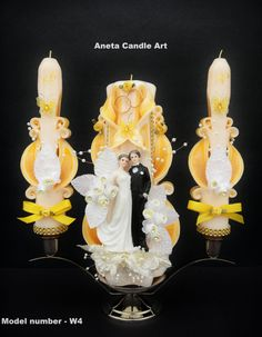 Wedding Candle Unity Set Carved candles by AnetaCandleArt on Etsy, $120.00