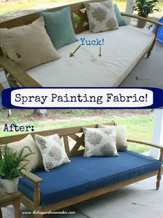 Who knew you could spray paint fabric??