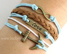 DIY Jewelry Ideas. All you need are some cute charms and some coloured thin rope.