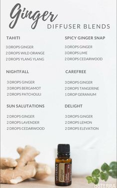 Ginger diffuser blends. #GingerEssentialOilblends