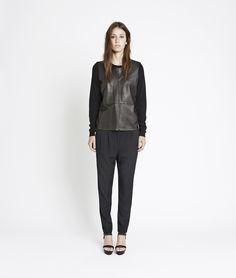 Mayol o-neck 3111 , BLACK | www.samsoe.com Normcore, Xmas, Leather, Black, Women, Style, Fashion, Swag, Moda