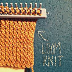 How to knit an infinity scarf with a long loom