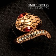 Sinkee-SIZE-7-18k-yellow-GP-sexy-red-eyes-snake-rings-for-women-finger-P02702