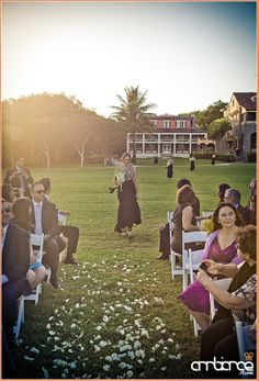 Bridal party procession at The Deering Estate #wedding #ceremony #miami