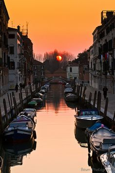 Sunset in Venice ~ Italy.