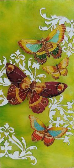 julie bonnafous Peinture sur verre, verre coloré et plomb vitrail