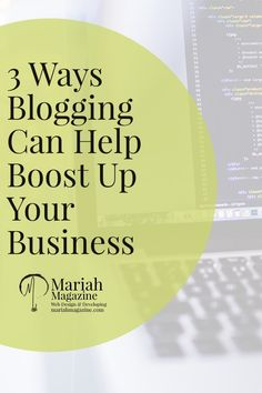 Business blogs are a way of expressing your business' expertise. They help add some voice behind your brand and help build a connection with your customers.