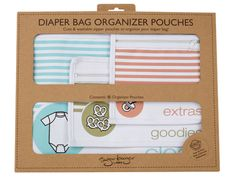 SugarBooger's Diaper Bag Organizer Pouches