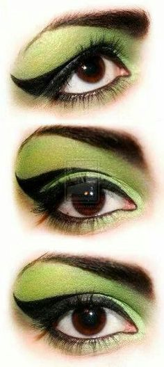 Eye makeup for the wicked witch of the west.
