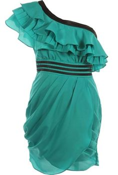 Emerald Waves Dress - i just love the colour, you can tell this would be very flattering on all body shapes!