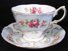 Royal Albert Rose Du Barry Series Marie Tea Cup and Saucer | eBay