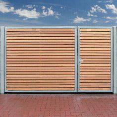 Steel Gate Design, Front Gate Design, House Gate Design, Fence Design, Side Gates, Front Gates, Driveway Gate, Fence Gate, Outdoor Rooms
