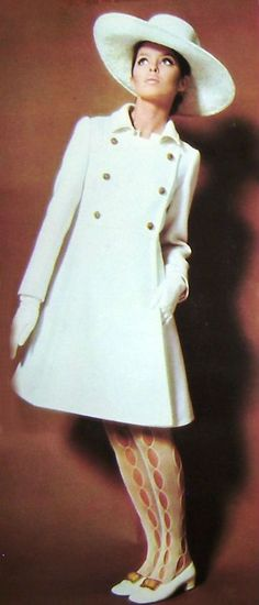 Great 1960s mod style; love the stockings