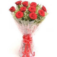 Buy true love with the arrangement of 10 red roses with 3 white Asiatic lilies with dry sticks at just ₹1,599.00. Use coupon code W2FDEAL10 and get 10% discount.