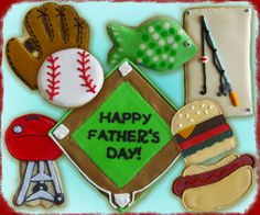 fathers day cookies - Fishing