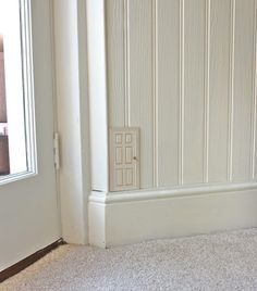 Fairy doors in your house! {love the subtlety of this one}