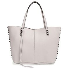 Rebecca Minkoff Unlined Tote (1.880 DKK) ❤ liked on Polyvore featuring bags, handbags, tote bags, pink leather purse, pink tote bag, leather purse, pink tote and leather tote bags