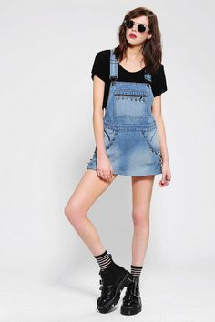 cb9b4622dd7 Ragged Priest Mia Overall Skirt. Denim Overall DressOverall SkirtDungaree  ...