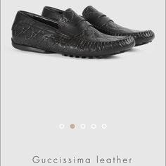 Gucci Gucci leather shoes. 100% authentic black leather with GG on it is in a very good condition no damages. Gucci Shoes