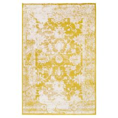 Yellow Abstract Tufted Accent Rug - (2'X3') - Surya, Bright Yellow
