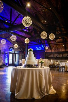 This CANAL 337 wedding reception featured hanging twine lights on the second floor. What a cool and unique idea. Great inspiration for the rustic bride. Indianapolis, Indiana #wedding #reception #rustic Abby and Nick Slideshow