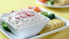 Slightly different Radish Dip Recipe with Worcester sauce and butter.