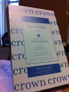Today I received my advance reader copy (ARC) of NOCTURNAL from Crown Publishing. The book comes out in just 18 days. When it hits on April 3, I'll see if all the hard work paid off.