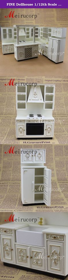 FINE Dollhouse 1/12th Scale Miniature furniture Perfect Handmade Gold Kitchen set. Materials:Wood Scale proportions:1:12 1# Length:7.5cm (2.5 inches ) Width:4.5cm (1.77 inches ) Height:17.5cm (6.88 inches) 2# Length:12cm (4.72 inches ) Width:4.5cm (1.77 inches ) Height:17.5cm (6.88 inches) 3# Length:8cm (3.14 inches ) Width:4.5cm (1.77 inches ) Height:17.5cm (6.88 inches) 4# Length:12cm (4.72 inches ) Width:4.5cm (1.77 inches ) Height:17.5cm (6.88 inches) 5# Length:7.5cm (2.5 inches )...