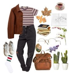 """""""""""Autumn Vibes"""" #7"""" by aesthetetic-twat ❤ liked on Polyvore featuring Oliver Peoples, Gucci, OKA and adidas"""